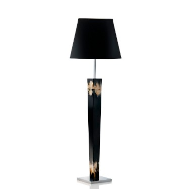 Floor Lamp, horn and chromed brass