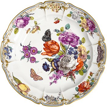 Cumberland Porcelain, Hand Painted Round Platter