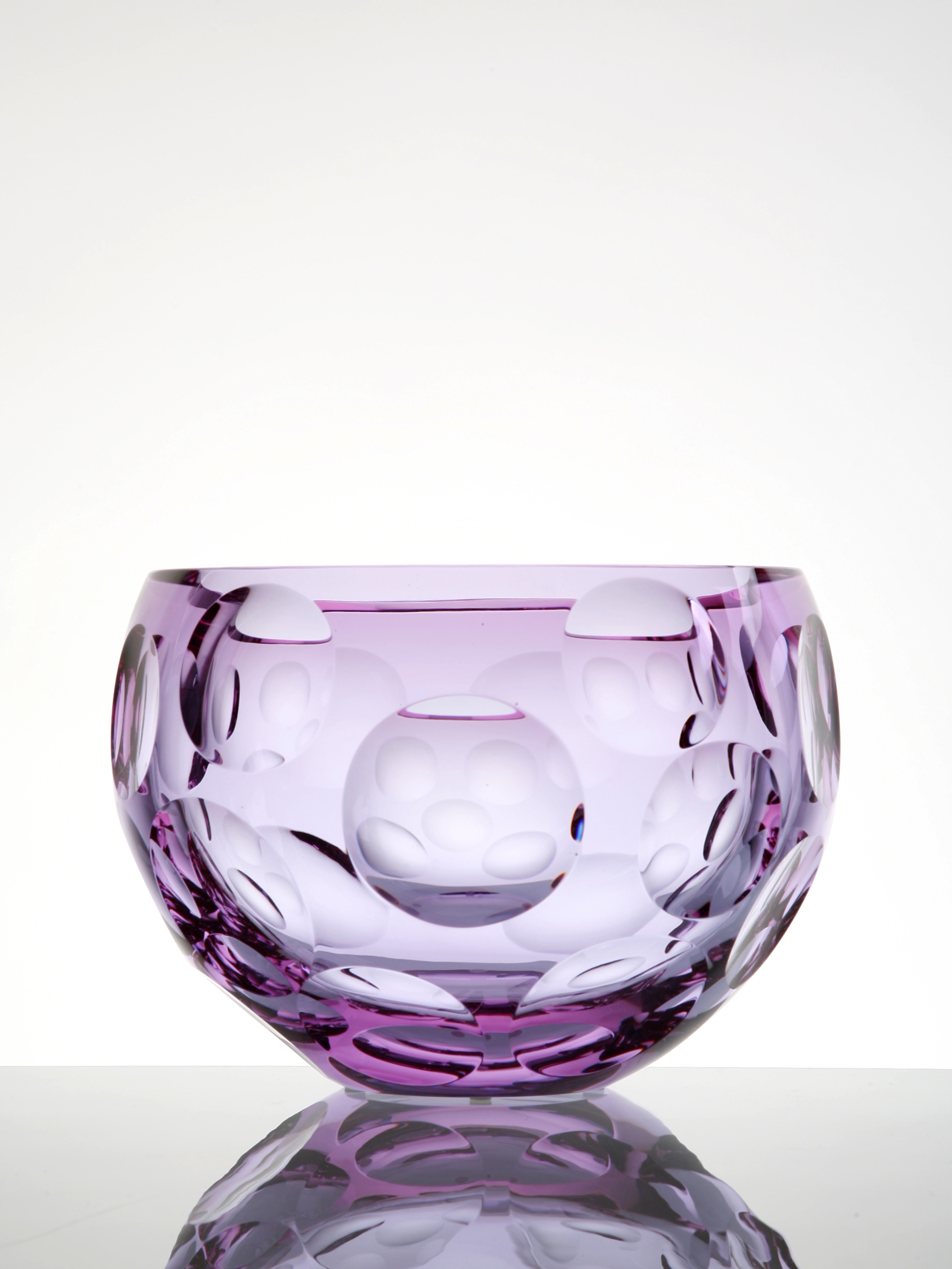 Bubbles Bowl, Underlay vase in Alexandrite and Rose