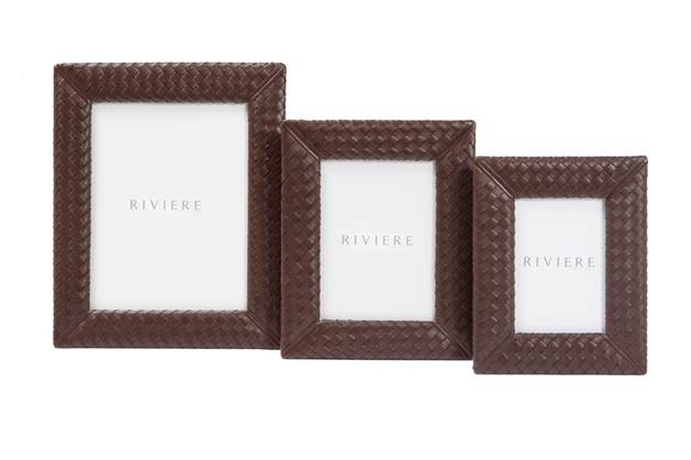 Hand Woven Leather Frame Picture Size 10cm X 15 Cm