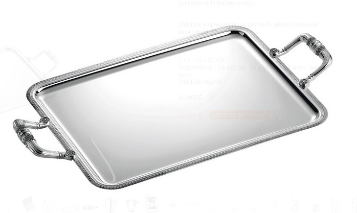 Malmaison, Rectangular tray with handles