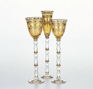 Pompadour, Ikebana Gold Feston Wine Chalice