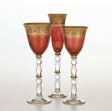 Pompadour, Ikebana Gold Band Water Chalice
