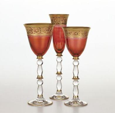Pompadour, Ikebana Gold Band Wine Glass
