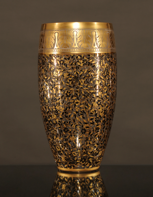 Jardin De Paul, Vase with Gold Leaf