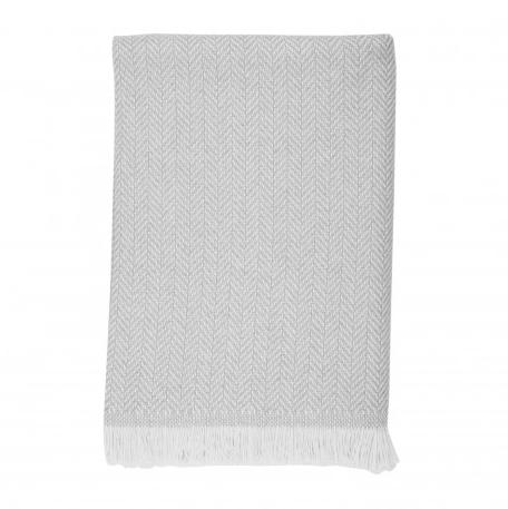 Airspun Herringbone Throw, 100% cashmere
