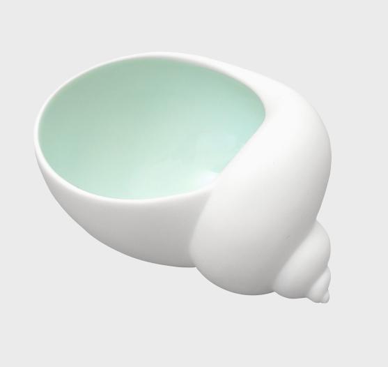 Porcelain Snail Salt Pot