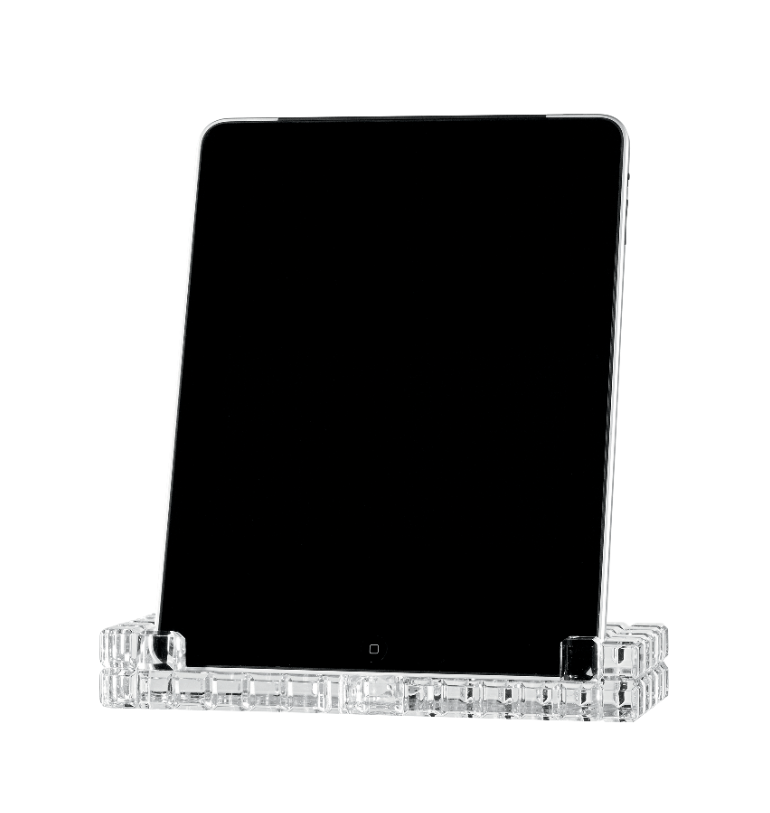 iPad crystal dock