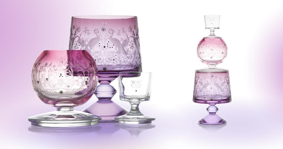 Towers, Crystal set of 3 Vases