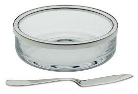 Cercle' , Butter Dish with Spreader
