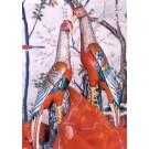 Famille Rose Pheasants , pair