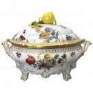 Cumberland Porcelain, Hand Painted Soup Terrine