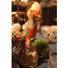 Famille Rose Parrots, pair